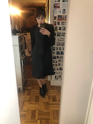 Alexandra K - Aritzia Jacket, Iro Dress, Aquatalia Booties - Fall