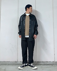 ★masaki★ - Zara Oversized Shacket, Converse Ct70 - Clean