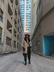 Raoul Wilke - Thrift Coat, Uniqlo Turtle Neck, Zara Pants, Brimz Hat, Urban Outfitters Boots - Standing ground