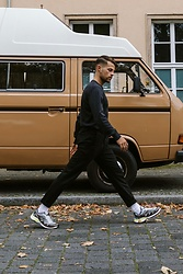 Kevin Elezaj - Salomon Sneakers, Topman Pants, A.P.C. Sweater - Step!