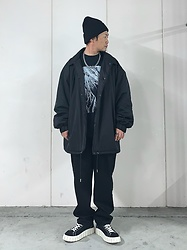 ★masaki★ - Federal Prisoner Jesse Draxler, Collusion Oversized Coach Jacket, Asos Baggy Jeans, Eytys Odessa, Vitaly Necklace - Baggy Style
