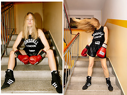 Ewa Michalik - Lonsdale London Top, Adidas Shoes, Everlast Boxing Gloves - Fight like a girl...