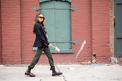 Lauren Recchia - No 21 Boots, Celine Sunglasses, L'agence Military Blazer, Vince Trousers - Military Mix