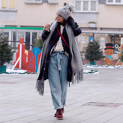 Iva K - Reformation Jeans, Timberland Boots, Zara Scarf - Today