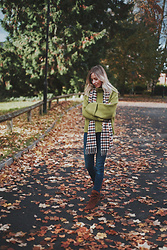 Daniella Robins -  - Green Knitwear & Orange Leaves