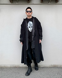 ★masaki★ - Ssnmrkrn Vintage Military Artisanal Coat, Kollaps Tee, Dr. Martens Limited 10hole - Ssnmrkrn