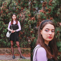 Nora Aradi - Yesstyle Shirt, H&M Shoes, Stradivarius Bag, New Look Headband - Lilac