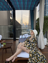 Joicy Muniz - Lack Of Colour Hat, Beck Sondergaard Kimono - Winter in Dubai