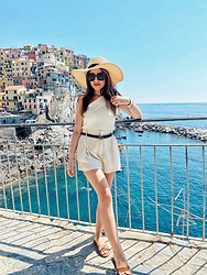 Sonia.m - Zara Top, Gucci Belt, Zara Shorts - Manarola