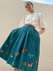 Luna Nova - 70'S Vintage Blouse, Vintage Hunting Skirt - On the nature of daylight