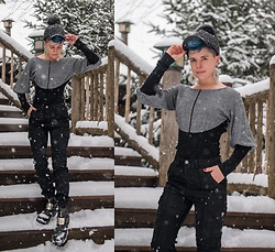 Carolyn W - Snyder Fashion Two Tone, Femme Luxe Finery Cargos, Harley - Snowy Grey Day