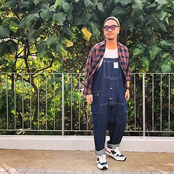 Mannix Lo - Ralph Lauren Flannel Shirt, Nigel Cabourn Overall, Miharayasuhiro Sneakers - If you Believe you shall Receive