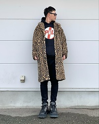 ★masaki★ - Boohoo Leopard Fur Coat, Public Image Limited Hoodie, Eytys Stash - What a Lovely Day