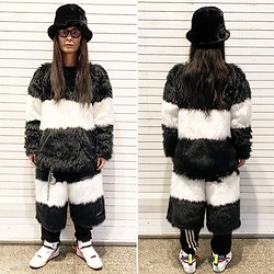 @KiD - Typhoon Mart Sunglasses, Buttstain Monster Fur Tops, Buttstain Monster Fur Shorts, Vivienne Westwood Cigarette Case, Reebok Ghost Busters - JapaneseTrash619