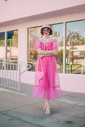 Amy Roiland - Jessica Butrich Heels, Gucci Glasses - Polka Dot Pinks