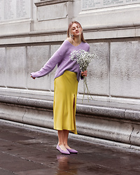 Dasha - H&M Sweater, Zara Skirt, Vivaia Recycled Plastic Ballets - Recycled Plastic Shoes
