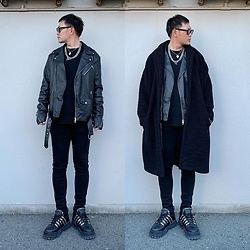 ★masaki★ - Neuwdenim Skinnyjeans, Asos Teddycoat, Asos Bikerjacket, Eytys Stash, Vitaly Necklace - Allblack everything