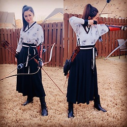 Ming Francis - Hanfu, Vince Camuto Booties - Chinese Katniss Everdeen