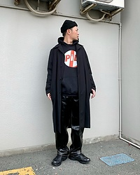 ★masaki★ - Asos Beanie, Komakino Over Coat, Pil Hoodie, Eytys Benz, Magnum Shoes - Public Image Limited