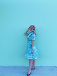 Paulie Antiques - Shein Polka Dot Dress, Butrich Cherry Heels, Anthropologie Sunglasses - Florida Keys