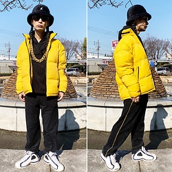 @KiD - Kangol Hat, Zara Puffers, Supa Resque Wears Set Up, Fila Sneaker, Typhoon Mart Sunglasses - JapaneseTrash621