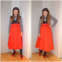 Mucha Lucha - Vrs Roll Neck Top, Monki Sweater Vest, H&M Skirt, Anna Field Heels - Mood booster