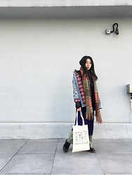 Flosmoony - Monki Stripped Shirt, Icefire Jacket, Icefire Scarf - 2021/003 Winter in Layers