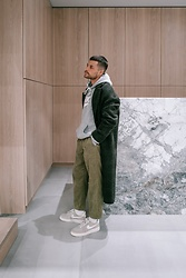 Kevin Elezaj - Nike Sneakers, Urban Outfitters Pants, Nike Sweater, Zara Coat - Casualty