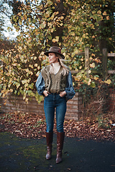 Daniella Robins - Mango Boots - Autumn Layers & Knee High Boots