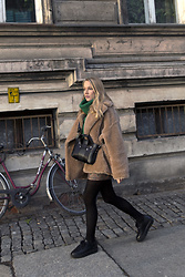 Ewa Michalik - Reserved Sweater, Ochnik Fur, Fiore Tights, Vanda Novak Sneakers, Beltbag Bag, H&M Skirt - Teddy Bear