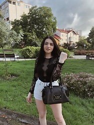 Nadya Dmytryshyn - Guess Bag - Black and white