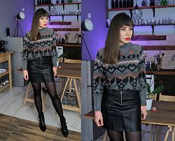 Jointy&Croissanty © - Bonprix Sweater, Bonprix Skirt - Winter classic