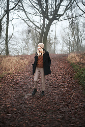 Daniella Robins - Pea Coat, Dr. Martens Boots - A Foggy Winter Wonder
