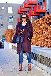 Rimanere Nella Memoria - Winser London Coat, H&M Jeans - Brown Wintercoat