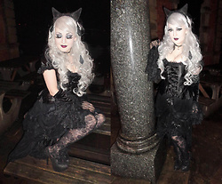 Lucinda ★ Van Tassel - Sinister Lace Skirt, Bordello Glitter Heels - ★ Cat Girl ★