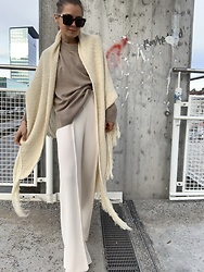 Anna Borisovna - Mango Cape, Arket Sweater, Mango Pants - The knit cape
