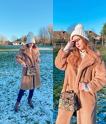 Elisa B. - Boohoo Teddy Coat, Zara Shoulder Bag, Armani Jeans Straight Cut - 25.01.21