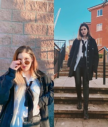 Elisa B. - H&M Pleather Pants, Primark Cozy Overcoat - 26.02.21