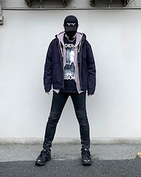 ★masaki★ - (K)Ollps Noise Music, Federal Prisoner Tee, Neuwdenim Jeans, Magnum Shoes, Vitaly Ballchain Npecklace - FEDERAL PRISONER