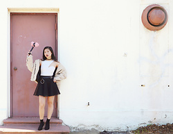 Dana Nguyen - Boohoo Crop Top, Unif Jacket, Yesstyle Belt, Soprano Skirt, Steve Madden Booties - BLACKPINK in Your Area