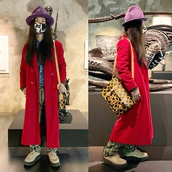 @KiD - Vivienne Westwood Mountain Hat, Neuw Denim Jacket, Vintage Coat, Vivienne Westwood Squiggle Bag, Dog Pile Pants, George Cox Rubber Sole - JapaneseTrash626