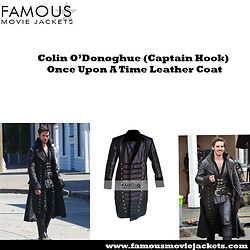 Christina Wampler -  - Once Upon A Time Colin O'Donoghue Captain Hook  Leather Coat