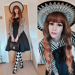 Wendy - I Do Declare Hat, Sheglit Jsk, Alice And The Pirates Socks, Irregular Choice Heels - Black and white