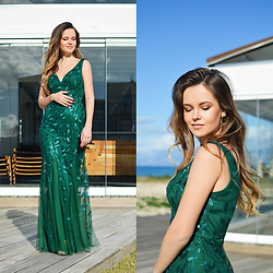 Tamara Bellis - Everpretty Maxi Dress - Gorgeous Green Maxi Dress
