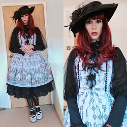 Wendy - Angelic Pretty Op, Angelic Pretty Tea Party Shoes - Ghost Night Bride