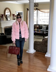 Shannon D - Generation Love Pink Coat, Paige Denim Jeans, Isabel Marant Boots, Hermès Bag - Pretty In Pink