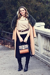 Butterfly Petty - Guess Bag, Zaful Coat - Fur collar