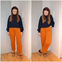 Mucha Lucha - Knitted By My Mum Jumper, Monki Trousers, H&M Socks, Asos Heels - Jewel tones