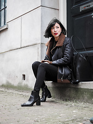 Vivian Tse - Zara Jacket, Zara Bag, Mango Leggings, Zara Ankle Boots - Happy Lunar New Year