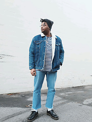 Jason - Dr. Martens 3 Eye, Levi's Denim Sherpa Jacket - Sailor